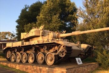 Olifant Mk1A tank at the South African Armour Museum, Bloemfontein